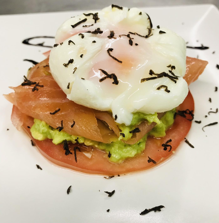 Restaurante Casa Garrido: Huevo escalfado con salmón