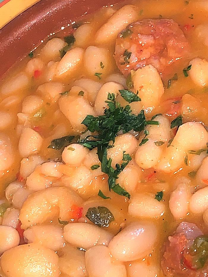 Restaurante Casa Garrido: Pochas con chorizo